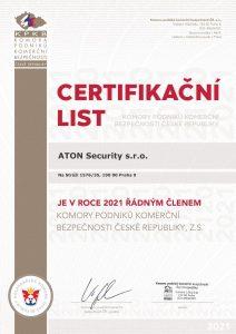 Certifikát KPKB